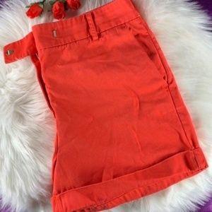 J. Crew Women's Chino Shorts Red Size 10